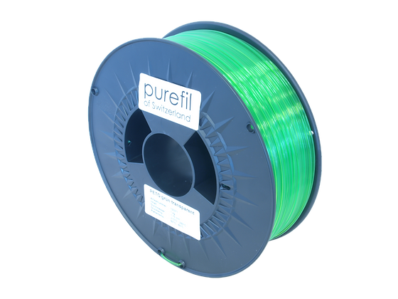 purefil PETG Filament grün transparent 1kg 1.75mm