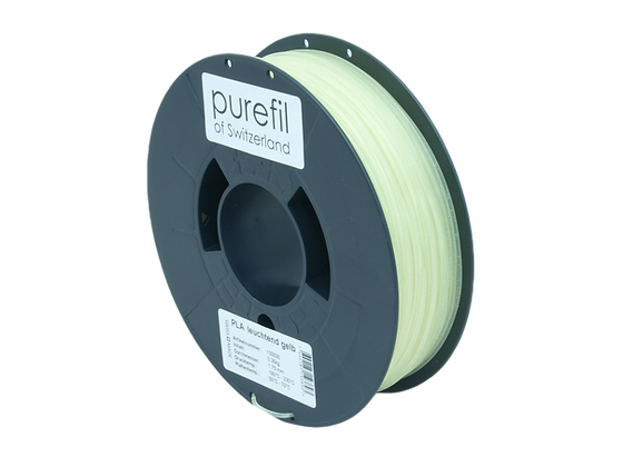 purefil PLA Filament leuchtend grün 0.35kg 1.75mm