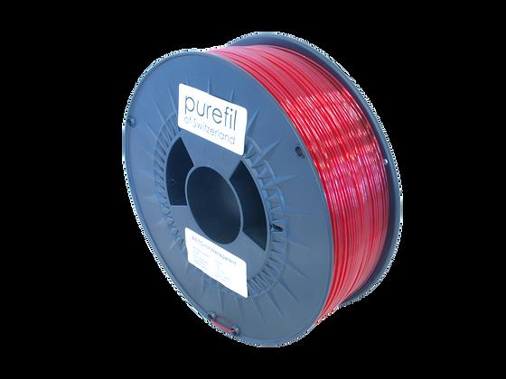 purefil PETG Filament rot transparent 1kg 1.75mm