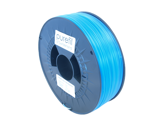 purefil MABS Filament blau transparent 1kg 1.75mm