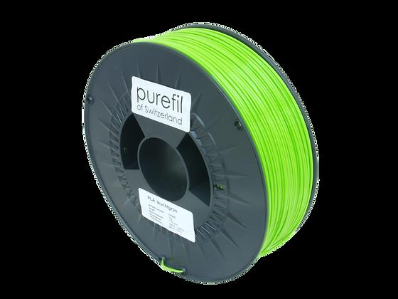 purefil PLA Filament leuchtgrün 1kg 1.75mm