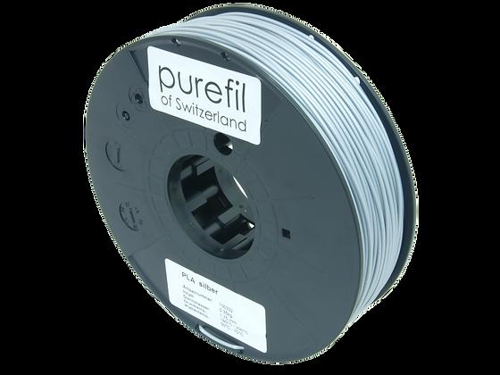 purefil PLA Filament silber 0.35kg 1.75mm