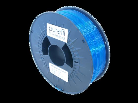 purefil PETG Filament blau transparent 1kg 1.75mm
