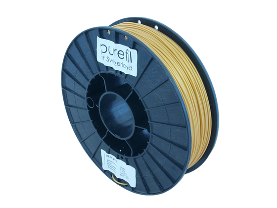 purefil PLA Filament gold 0.75kg 1.75mm