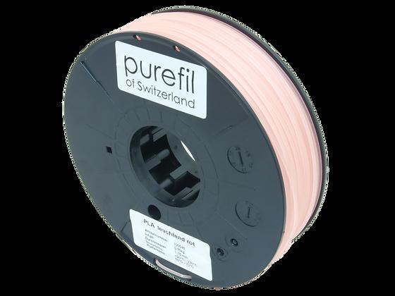 purefil PLA Filament leuchtend rot 0.35kg 1.75mm