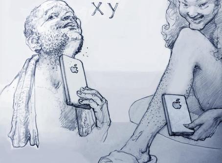 Historia de bocetos de dibujo para la acción en el  Mobile Congress 2018