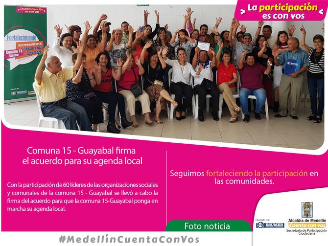 La Comuna 15 - Guayabal cuenta con un acuerdo para desarrollar su agenda local