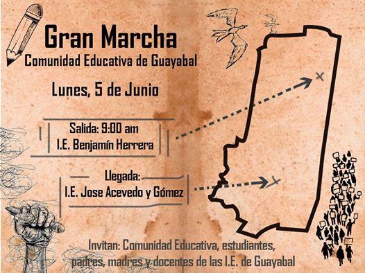 Marcha por la Educación en la Comuna 15 Guayabal
