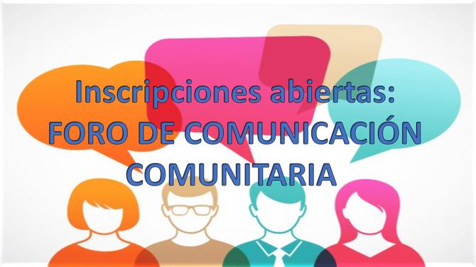 Inscribete al Foro de Comunicación Comunitaria Comuna 15