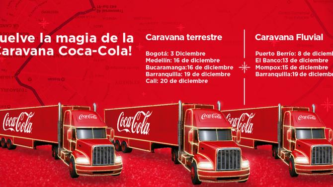 Así será la Caravana Cocacola en nuestra Comuna este 16 de Diciembre