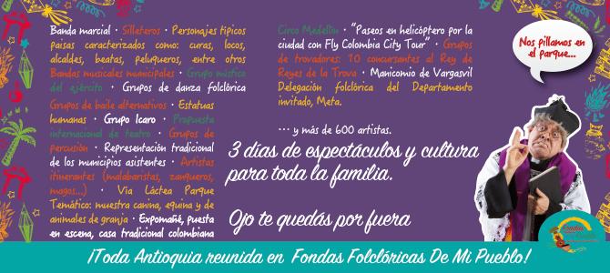 Fondas de mi Pueblo reunirá a 600 artistas en el Juan Pablo II