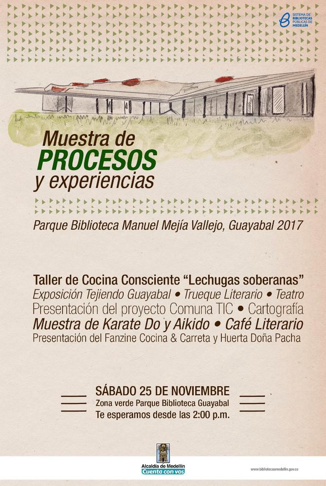 Muestra de Procesos y Experiencias en el Parque Biblioteca de Guayabal