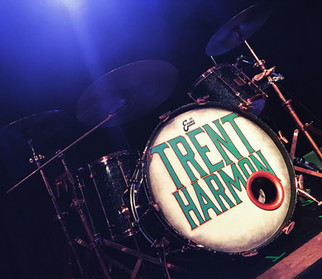 hand-painted kick drum head for Trent Harmon