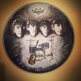 commissioned beatles snare drum head