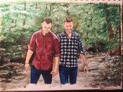 commissioned couples' painting