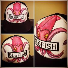 """Fleur de Squid"" custom artist series for Blofish Clothing Co"