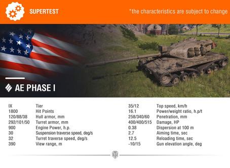 AE PHASE I - Americký heavy tank za odměnu z Frontové linie