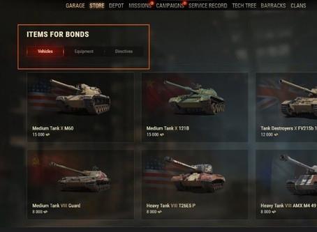 Tanky jsou nyní v herním obchodě dostupné za bony