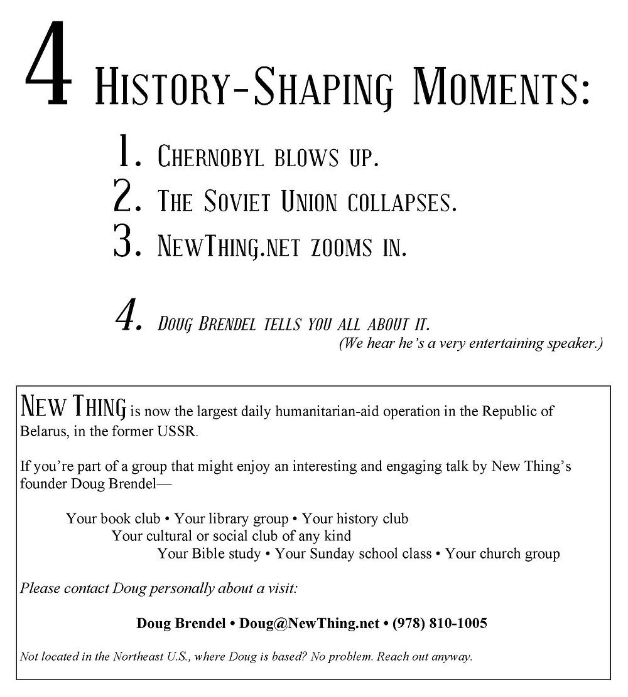 4 History shaping ideas