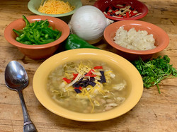 Roasted Green Chilli Chicken Soup