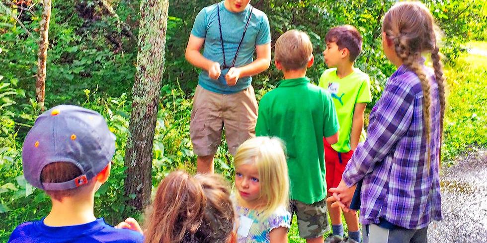 10:30 a.m. Young Naturalists Adventure - Cade Campbell  (9 Adventurers maximum)