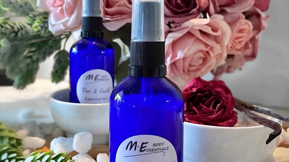 Essential Mist- Rose & Vanilla 100ml