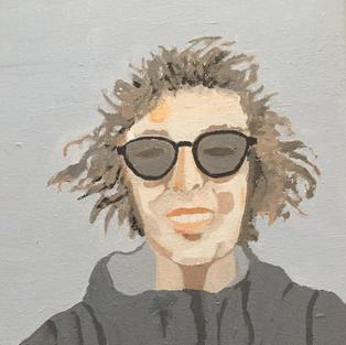 Self-portrait in windbreaker