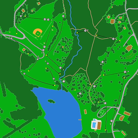 Disc Golf map