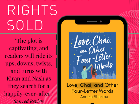 Audiobook Rights Sold for Love, Chai, and Other Four-Letter Words!