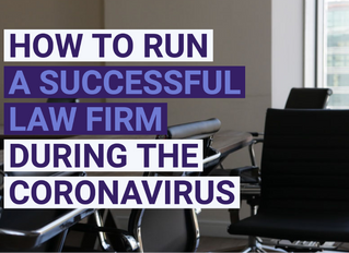 CORONAVIRUS AND YOUR LAW FIRM