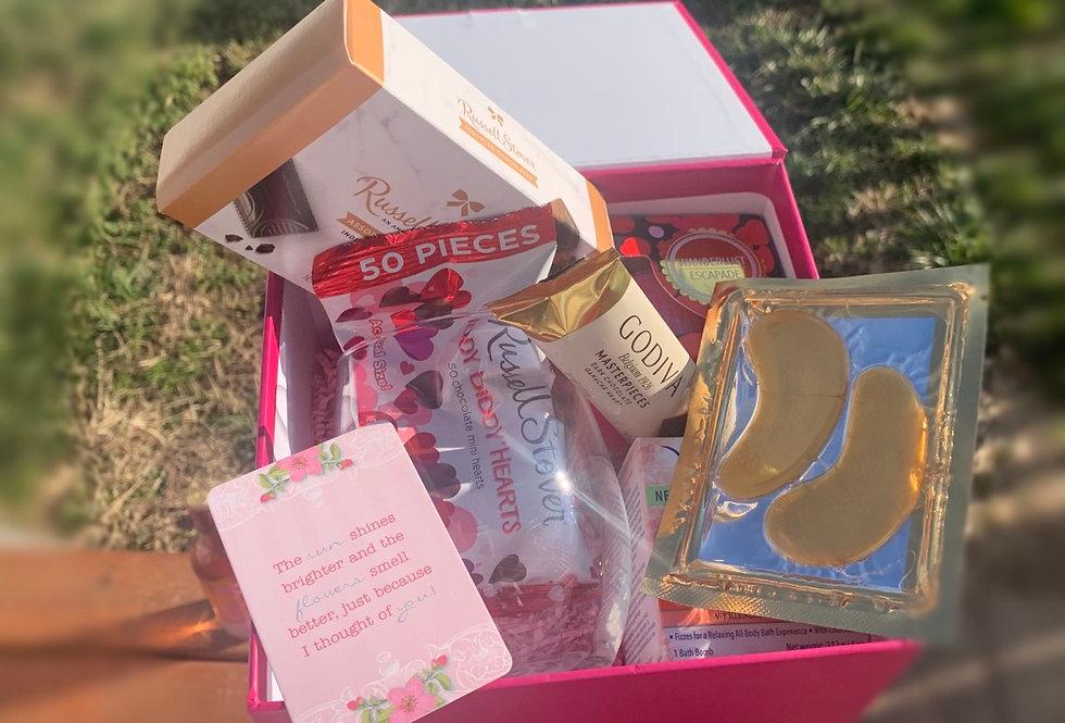 Single's Box w/Bottle of Wine