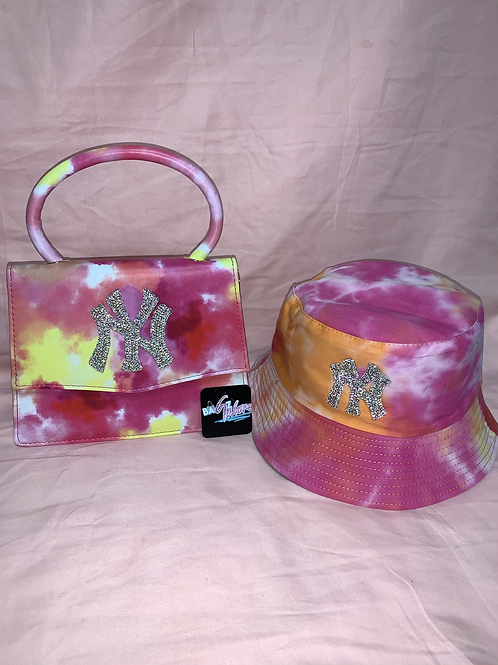 bucket hat and purse