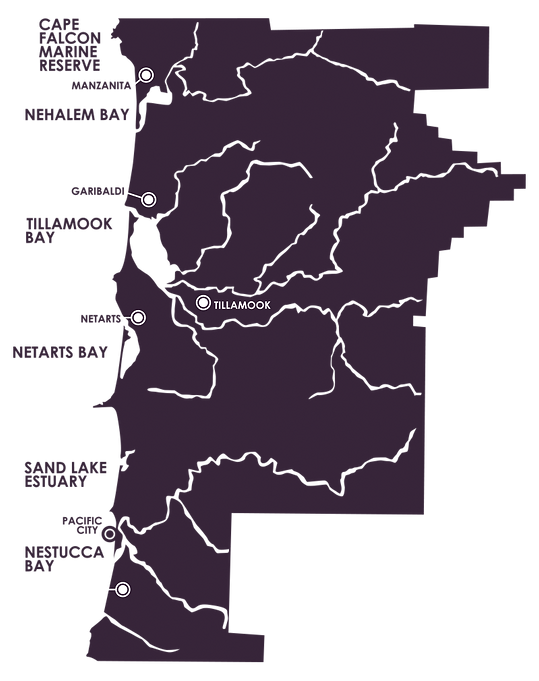 Map of Tillamook County