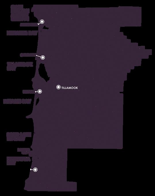 Map of Tillamook County