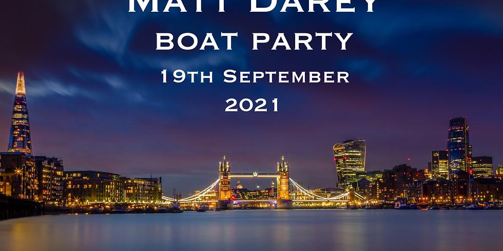 Matt Darey 2021 Boat Party 19th September