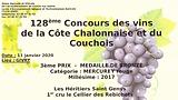 Récompense concours de vin côte chalonnaise et couchois