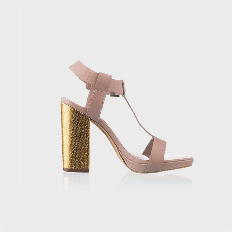 Gold Chunky Heel