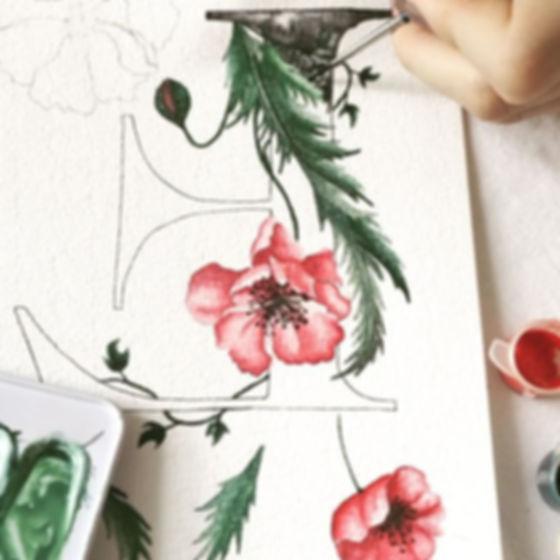 Monogram painting