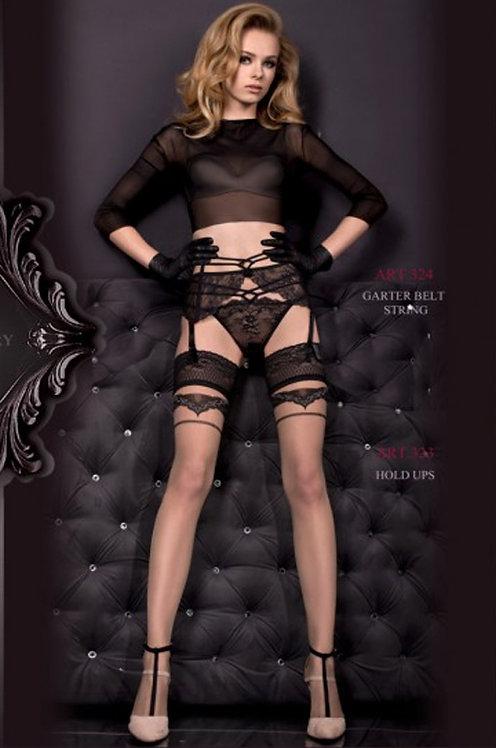 Ballerina 323 Stockings Black / Grey 20den