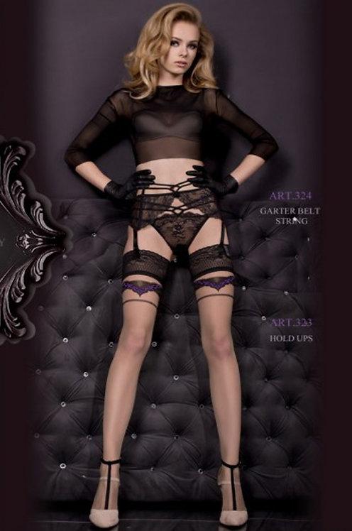 Ballerina 323 Stockings Black / Purple 20den