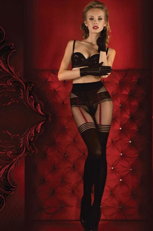 Ballerina 340 Tights Black / Red 20den/60den