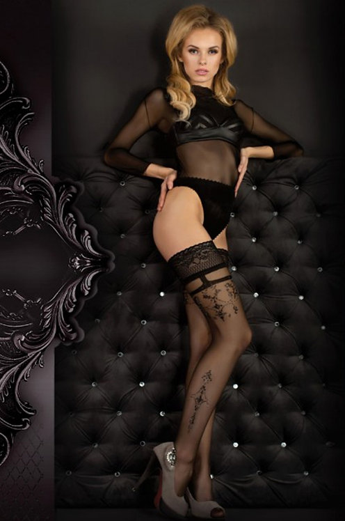 Ballerina 343 Stockings Black / Lurex 20den