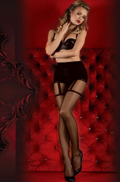 Ballerina 347 Tights Black / Red 20den