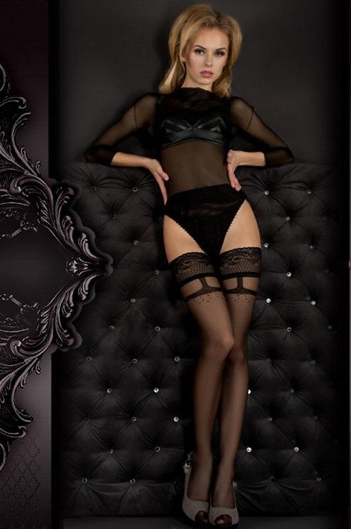 Ballerina 344 Stockings Black / Lurex 20den