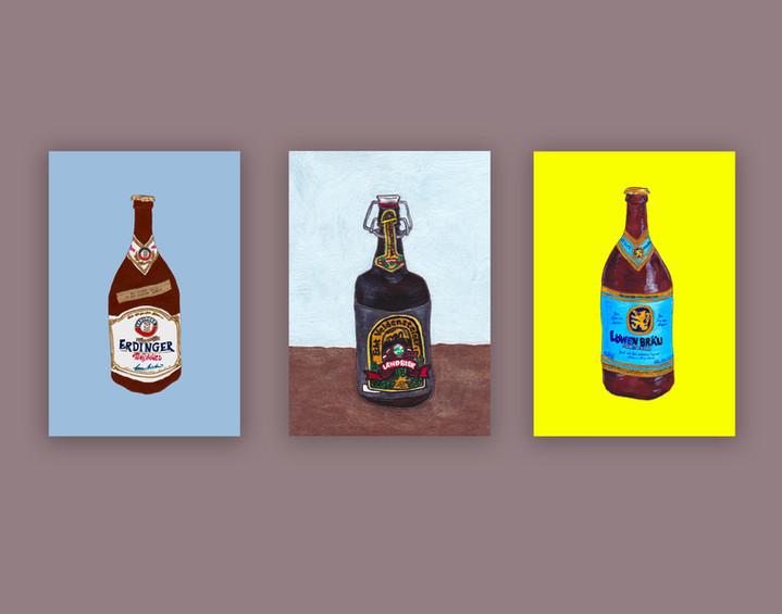 Bier-Illustration series