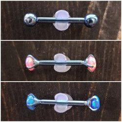 5mm Blue opal beads and bars