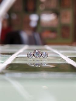 3 Round Swarovski Crystal Bezel Set Top