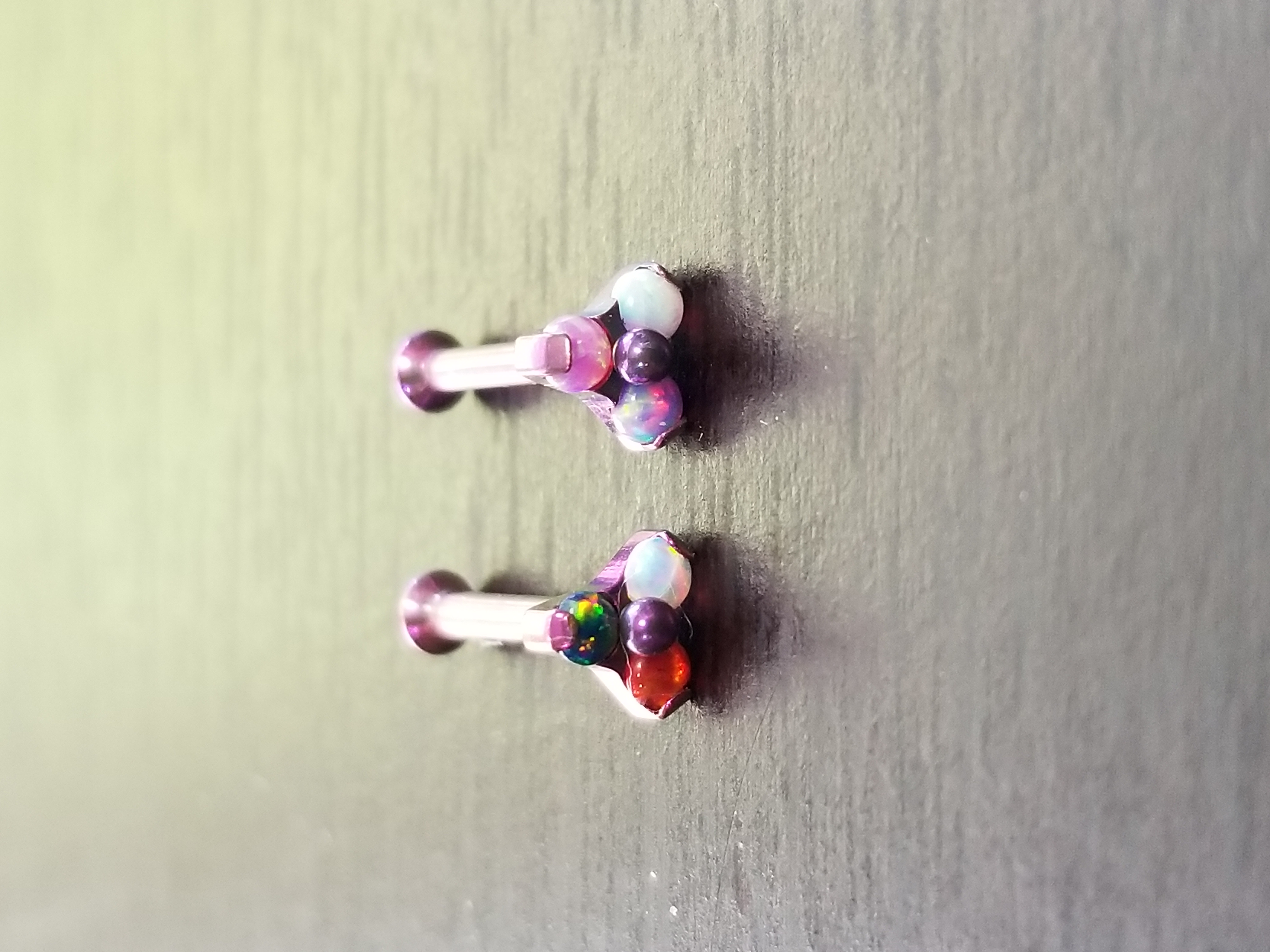 Custom Anodized Opal Trinity