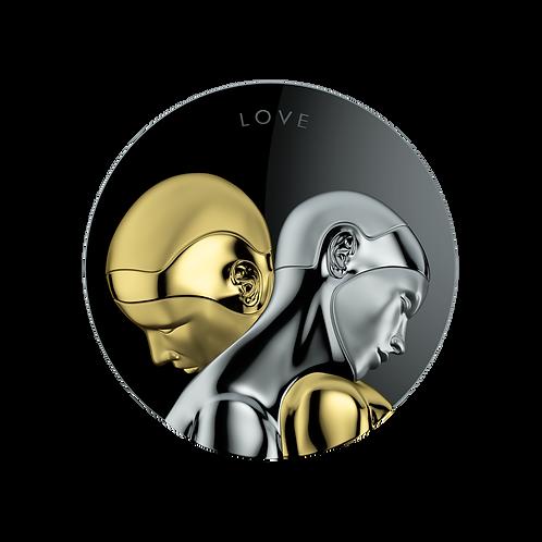 Reverse V.1 Tokelau $20 Silver Coin ROBOTS NEXT EVOLUTION Love 3 oz