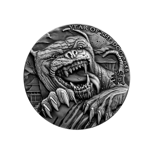 Reverse Silver Coin Chad Hound Baskerville OMINOUS